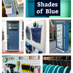 DIY Room Decor in Shades of Blue