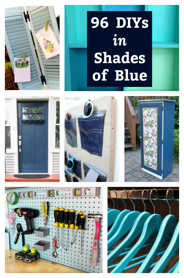 96 DIYs in Shades of Blue