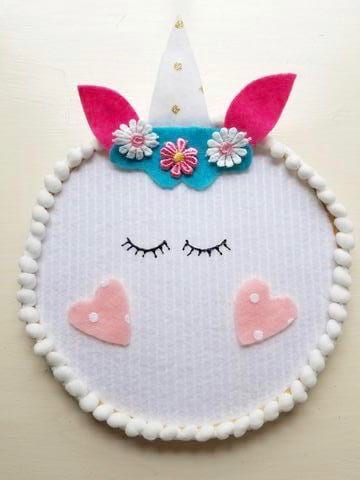 DIY Unicorn Embroidery Hoop