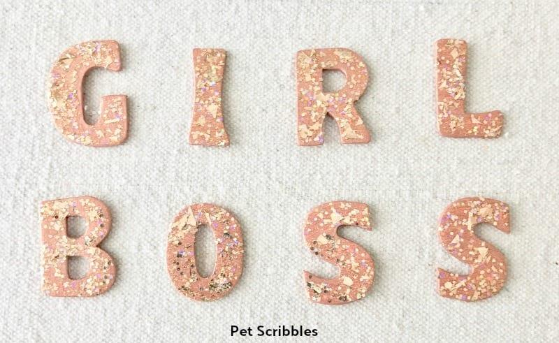 Girl Boss Glitter Letters