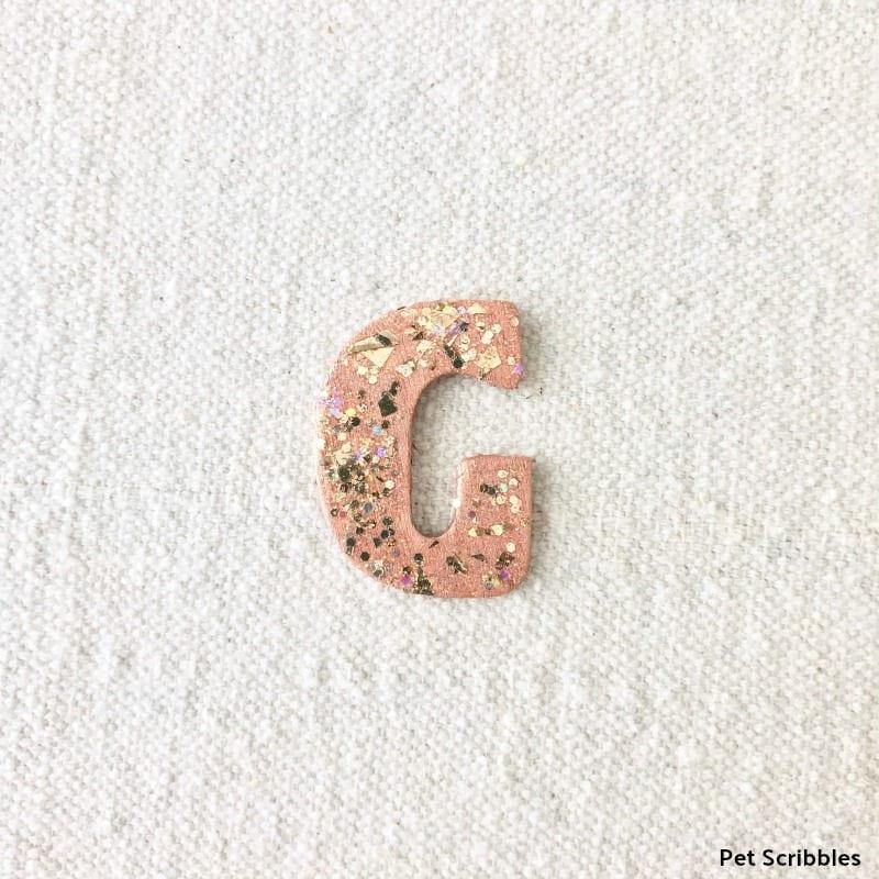 Glitter Monogram Letter G