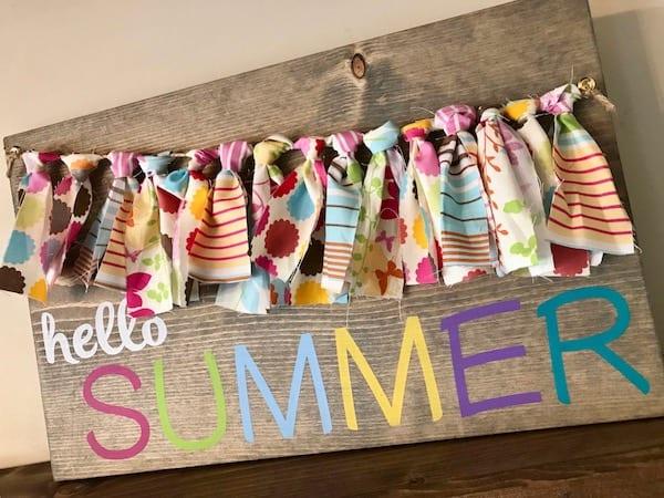 Hello Summer Banner Sign