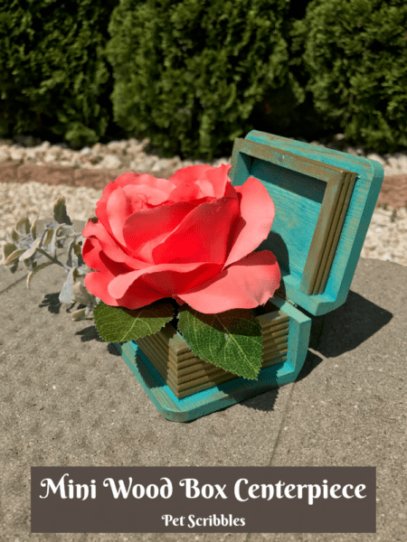 How to make a chic mini wood box centerpiece