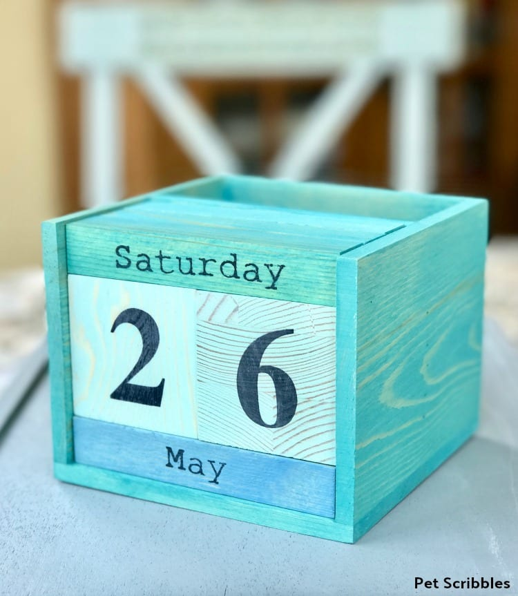 Painted Wood Perpetual Calendar