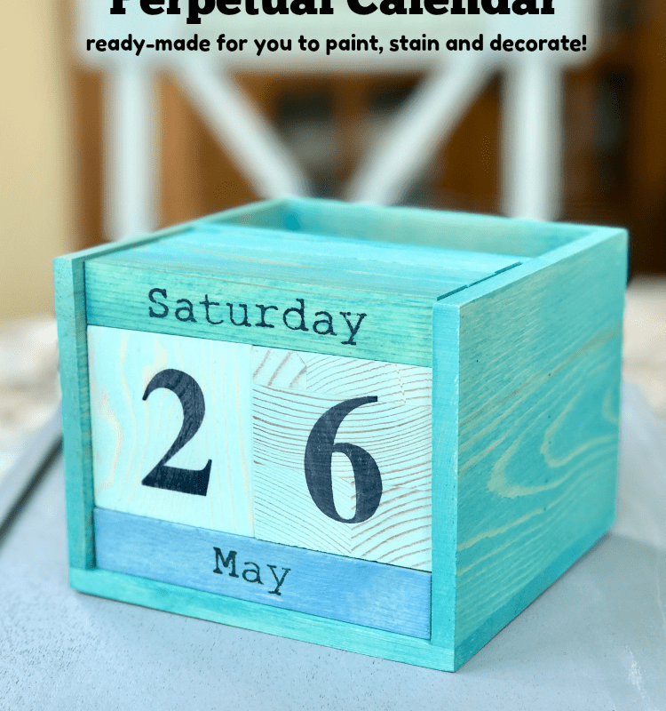 Paint this useful perpetual calendar for Father's Day!
