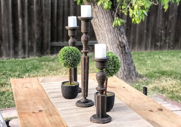 antique baluster candlesticks