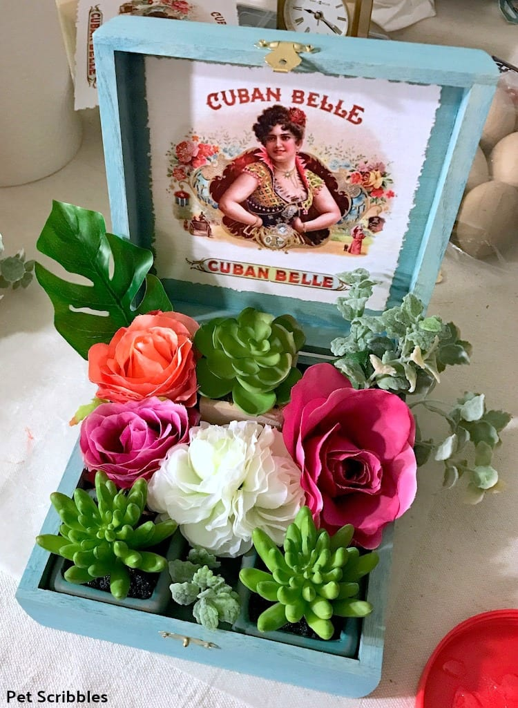 custom cigar box centerpiece