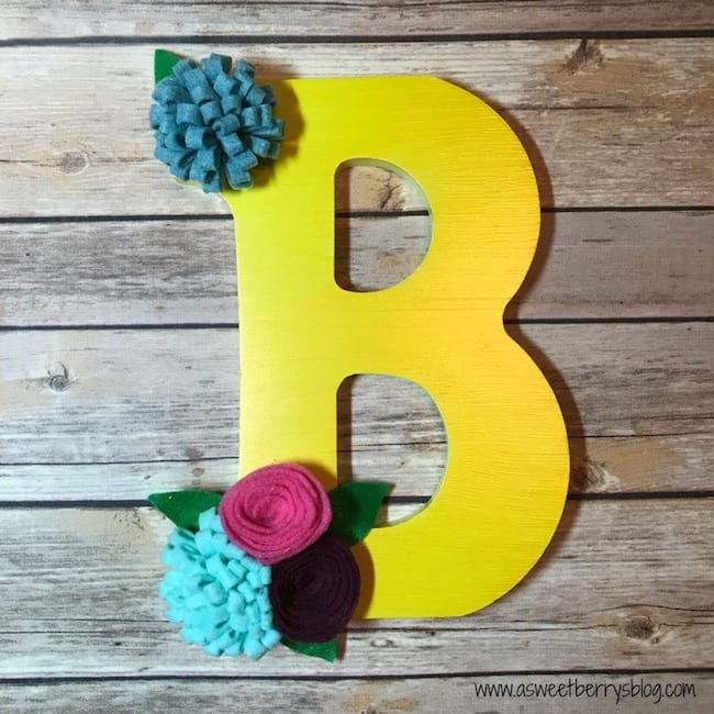 decorated letter decor