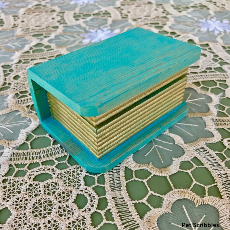 mini painted book box