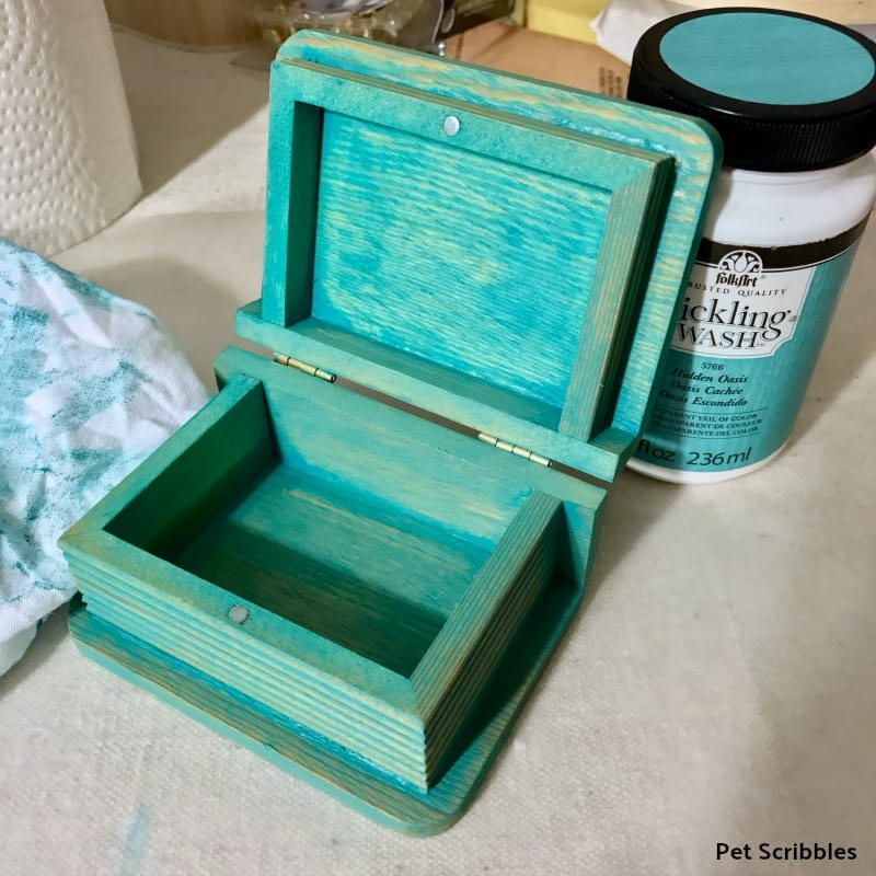 mini painted wood box