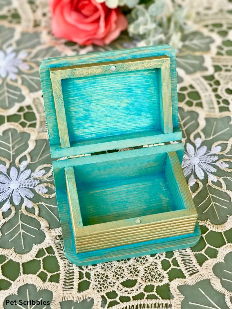 mini painted wooden box