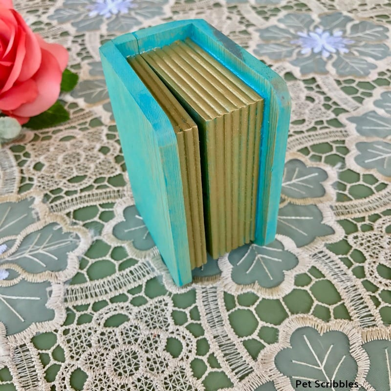 miniature painted book box