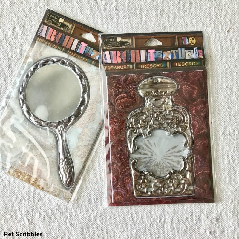 mirror and perfume bottle dimensional stickers