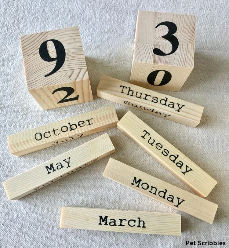 ready made wood perpetual calendar
