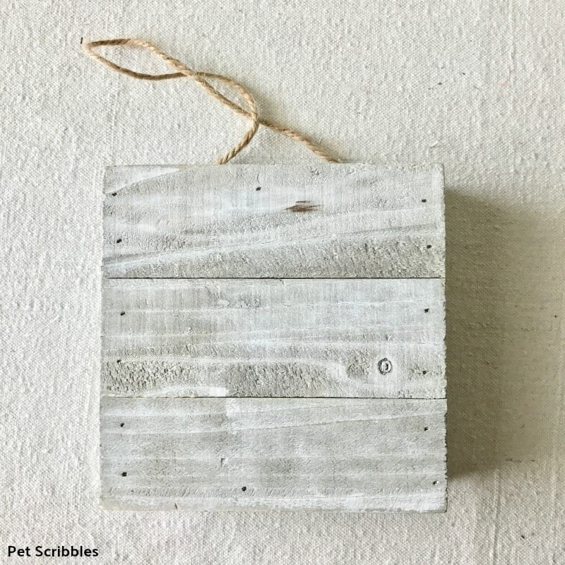 rustic wood canvas block