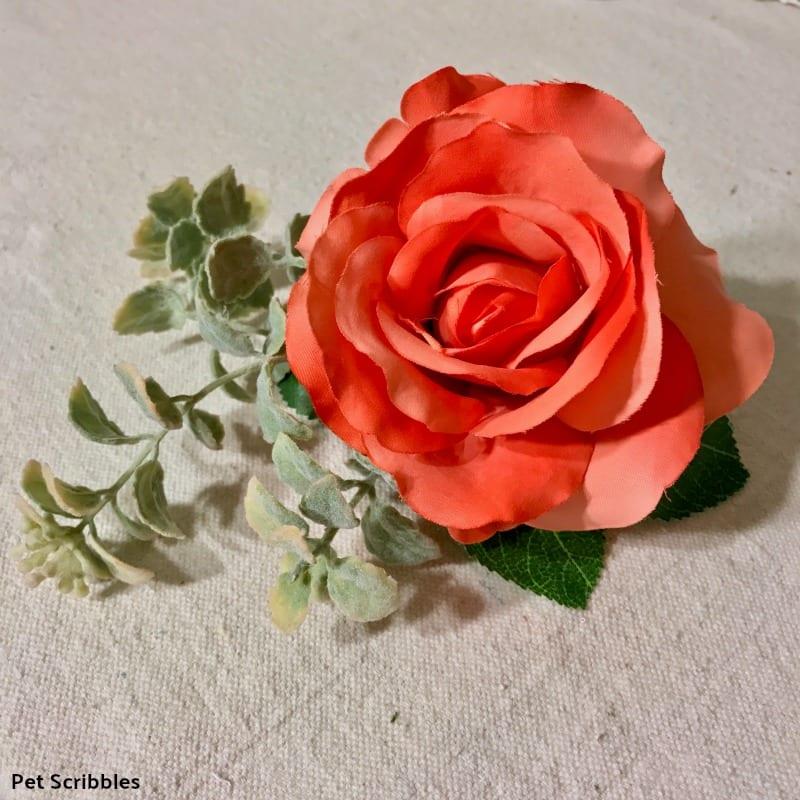 silk coral rose