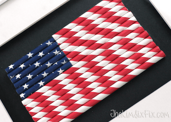 Paper Straw American Flag by The Kim Six Fix