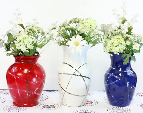 Patriotic Flower Vases - Easy Upcycle DIY by Sweet Pea