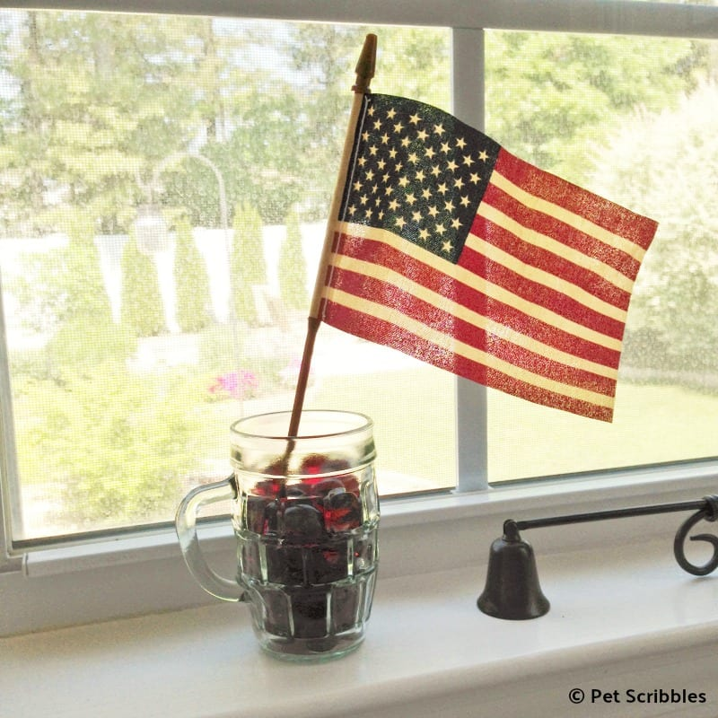 how to tea stain American flag