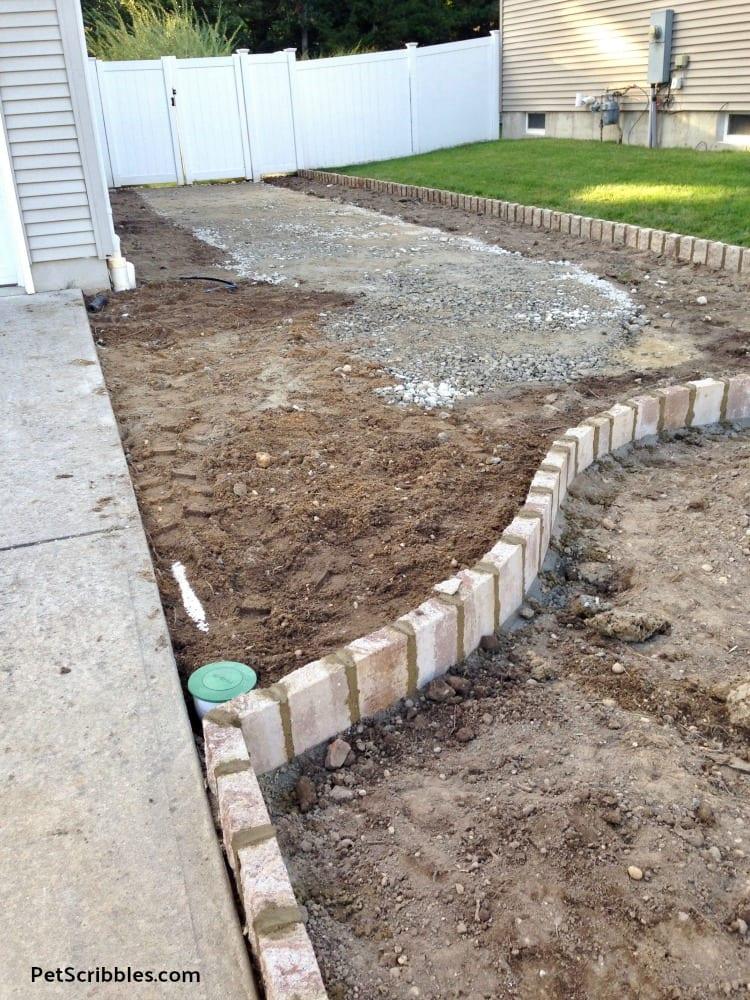 cement in between paver edging