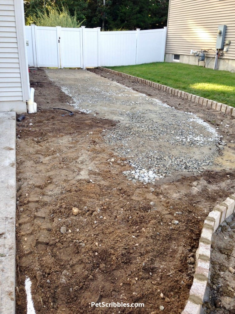 leveling the ground during makeover