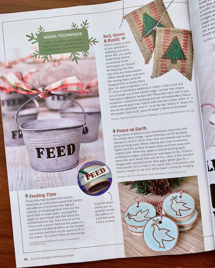 Farmhouse Style magazine 2018 Holiday inspiration