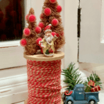 Rustic Bottle Brush Trees on Spool
