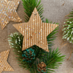 Glitter Cardboard Star Ornaments for Christmas