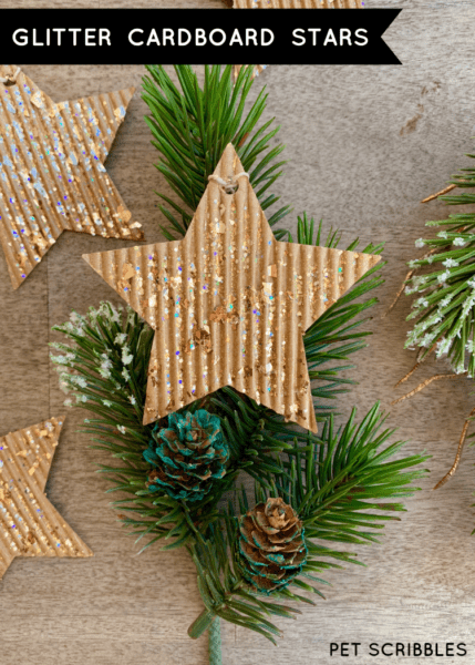 Glitter Cardboard Star Ornaments