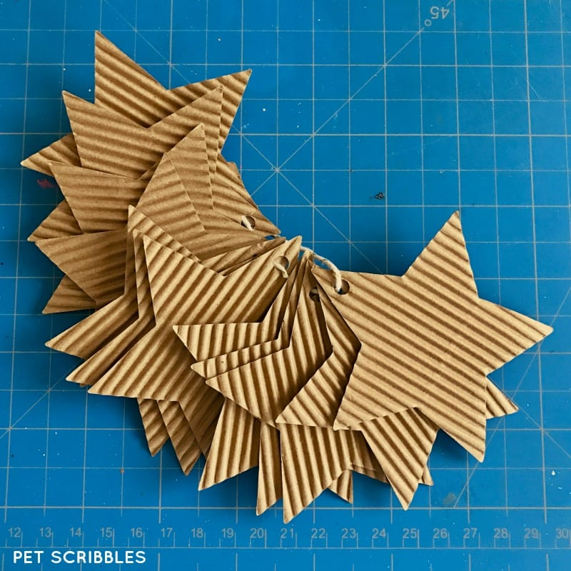 corrugated cardboard star tags