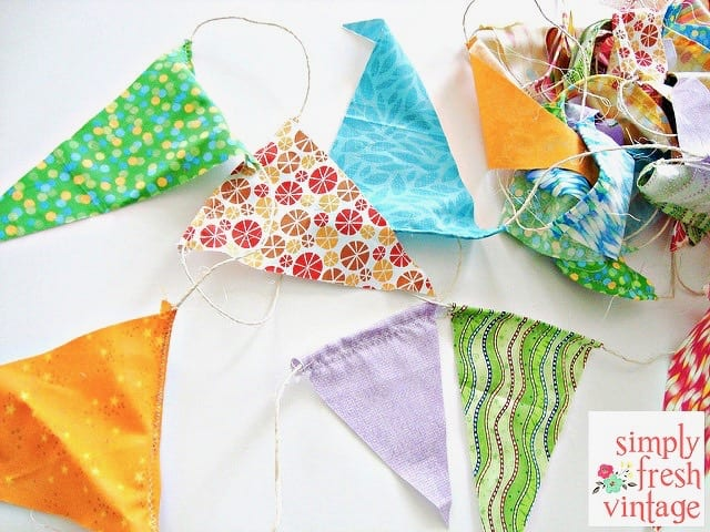Quick and Easy Fabric Bunting DIY by Simply Fresh Vintage