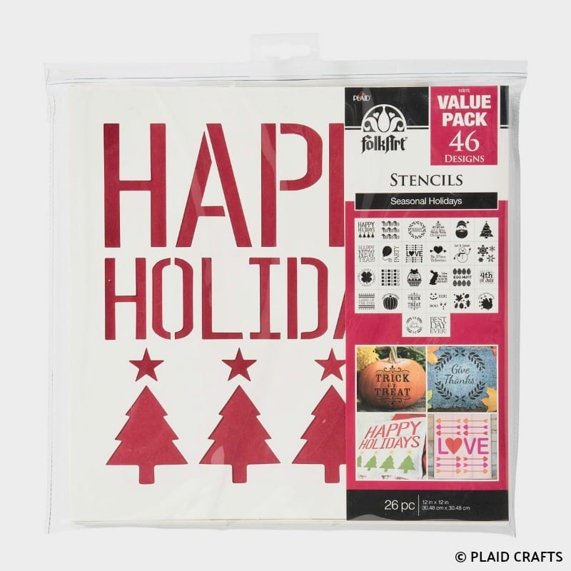 FolkArt Holiday Stencils Value Pack