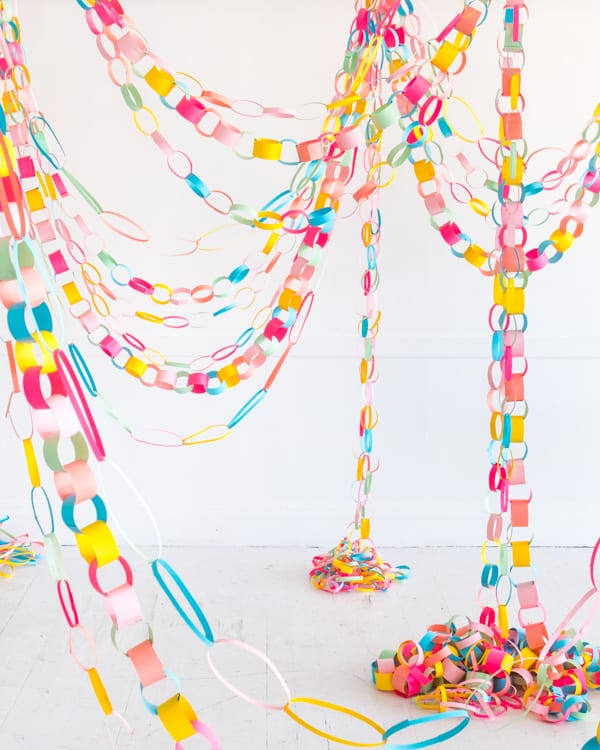Rainbow Paper Chain DIY by Oh Happy Day
