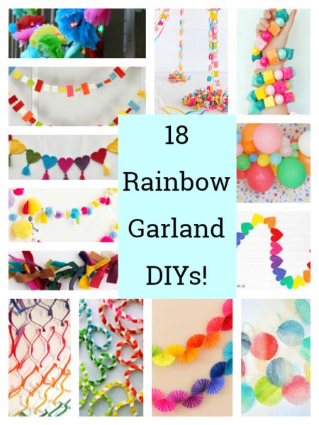 18 Stunning Rainbow Garland DIYs