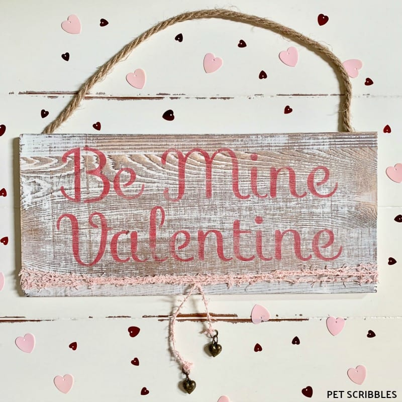 Rustic Valentine Wood Sign