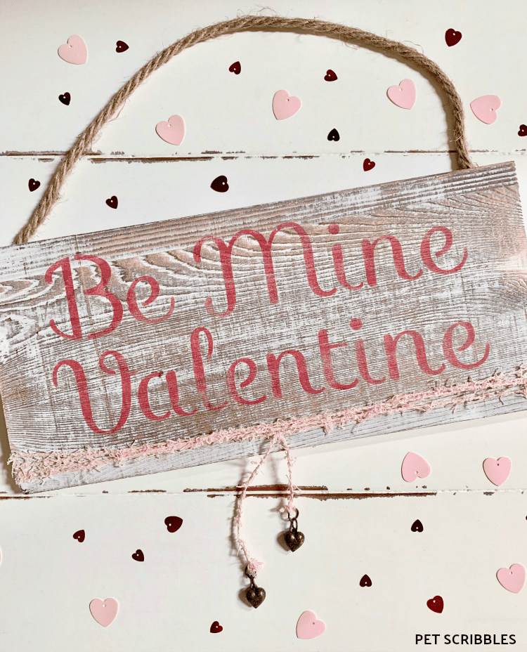 Rustic Valentine's Day Wood Sign - an easy tutorial!