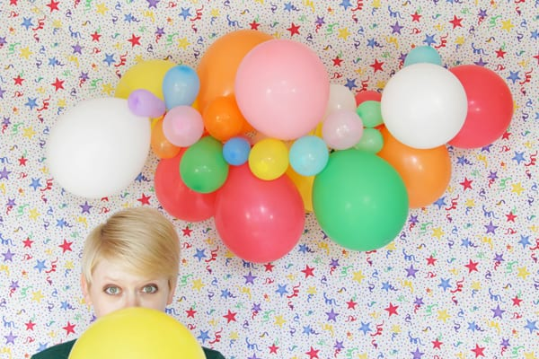 DIY Balloon Garland by Hands Occupied