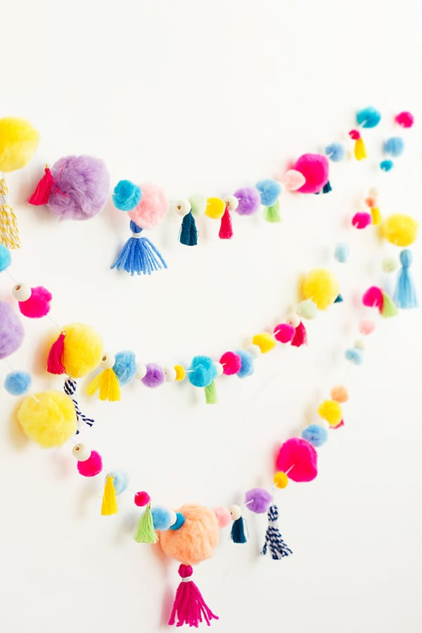 Pom Pom Tassel Garland DIY by Alice and Lois