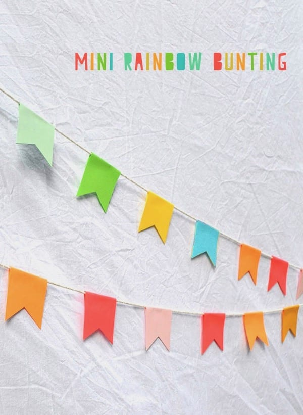 Mini Rainbow Garland DIY by ARTBAR