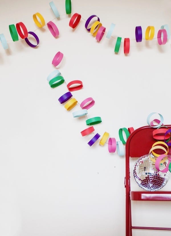 Rainbow Paper Garland DIY by A Subtle Revelry