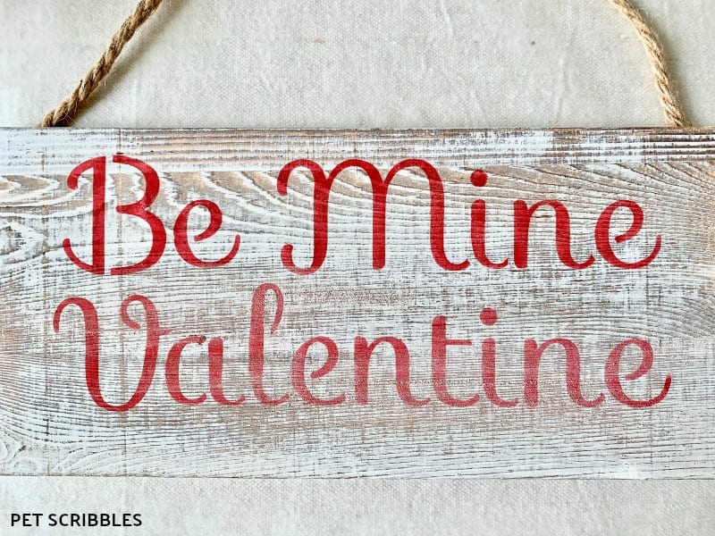 rustic Valentines Day wood sign tutorial