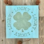 St. Patrick's Day Painted Wood Sign