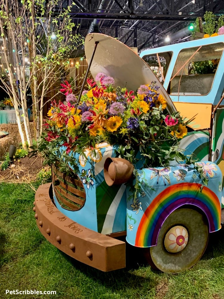 2019 Philadelphia Flower Show Exhibit Woodstock flower power