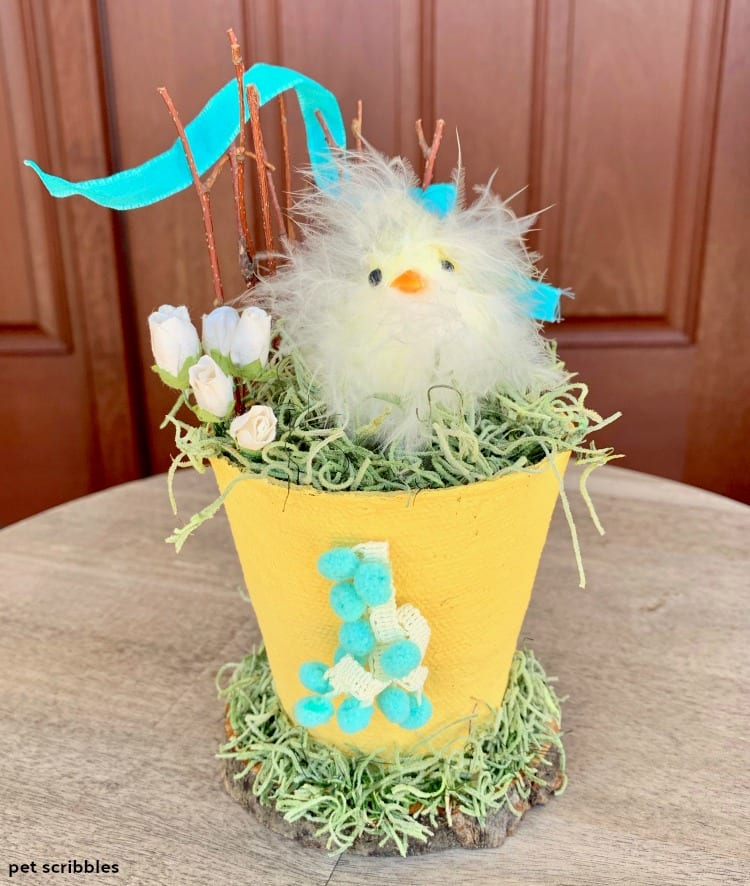 Easter Chick Peat Pot Craft