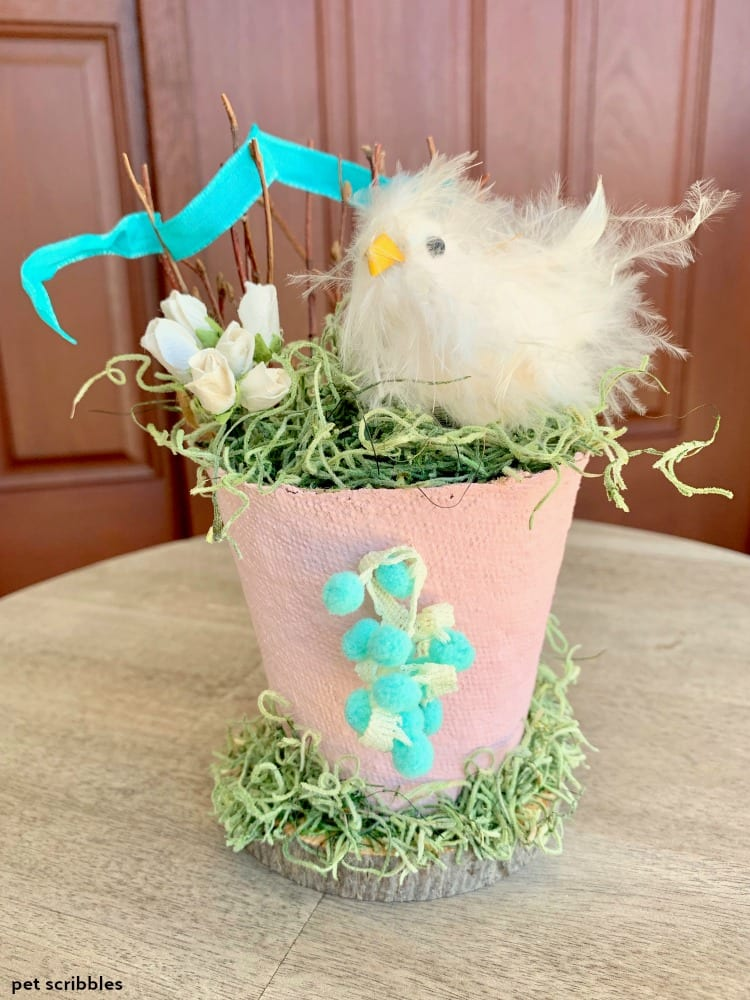 Easter Chick Peat Pot DIY