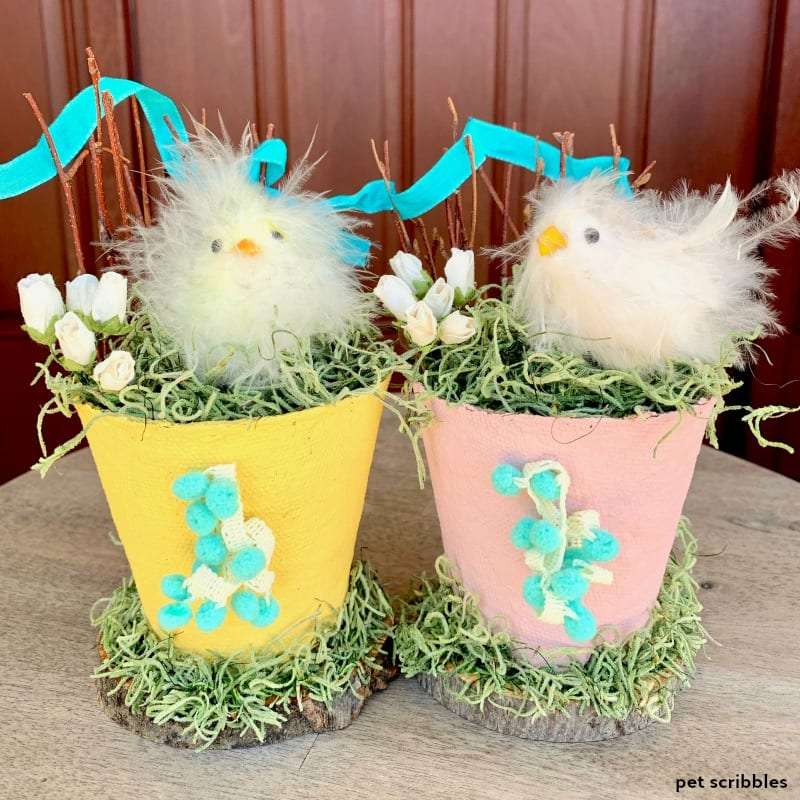 Easter Peat Pot Decorations