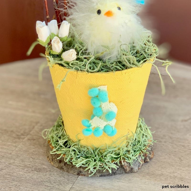 Easter Peat Pot vintage elements