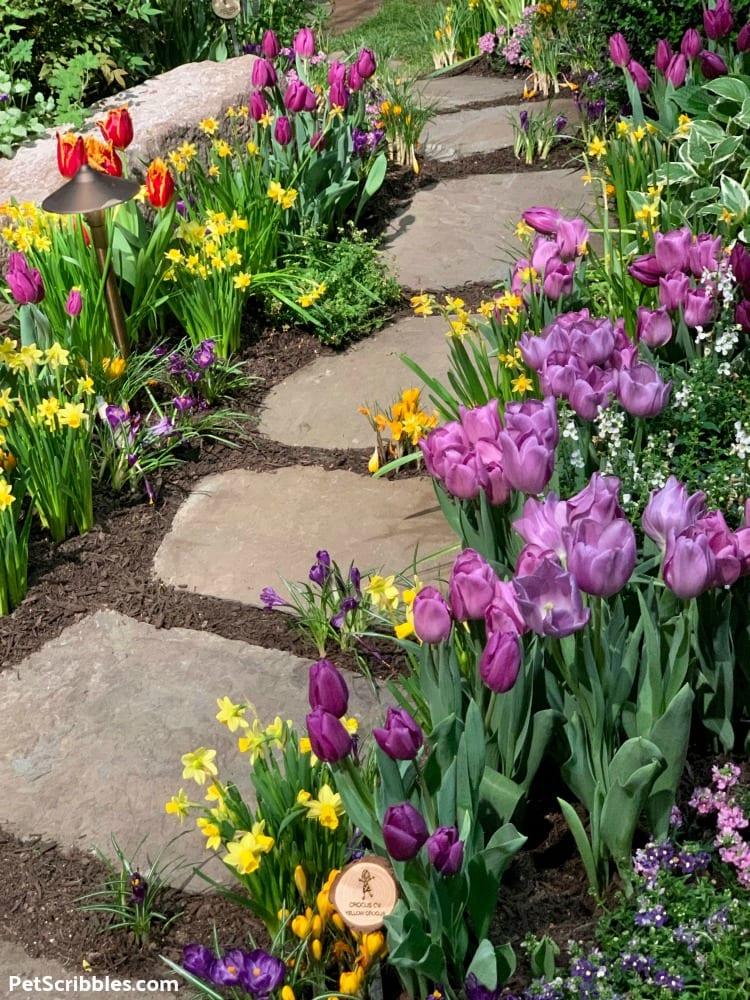 Spring garden path at 2019 Philadelphia Flower Show