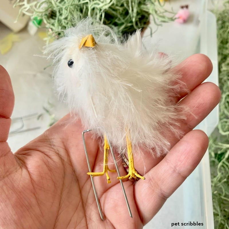 pale pink Easter chick for decoration