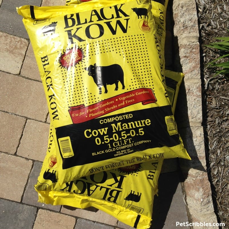 a bag of Black Kow composted cow manure